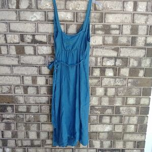 a594c194314 Artisan Ny Dresses - Artistan NY 100% Linen Embroidered Wrap Dress